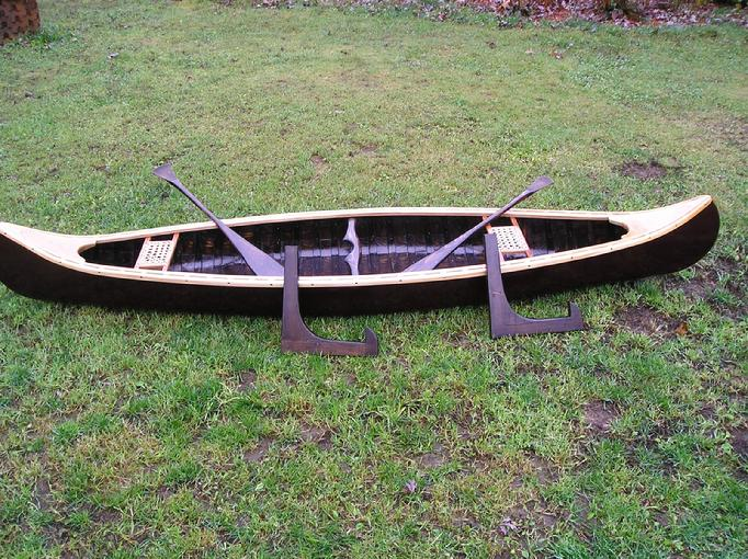 salemans sample canoe, canvas canoes